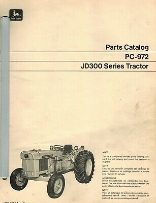John Deere 300 Industrial Vintage Tractor Parts Manual Pc-972 1970