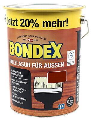 Mahagoni Lack (Bondex Holzlasur für Aussen mahagoni 4,8L Holzschutzlasur Holz Lasur)