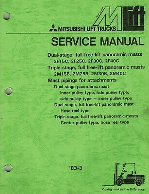 Mitsubishi Various Masts Forklifts Service Manual