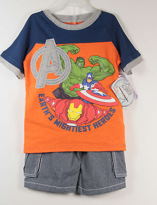 Avengers Outfit T Shirt Shorts Boys Sz 4 New](Avengers Outfit)