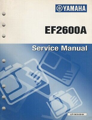 1999 YAMAHA PORTABLE GENERATOR EF2600A SERVICE MANUAL 19616-00-84 (740), used for sale  Shipping to India
