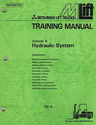 Mitsubishi Forklifts Hydraulic Systems Training Manual Volume 5 New