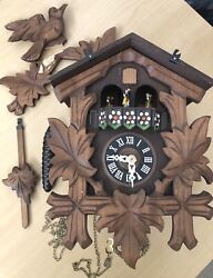 Vintage CUENDET EDELWEISS 6732-36 SWISS MUSICAL MOVEMENT CUCKOO CLOCK AS-IS
