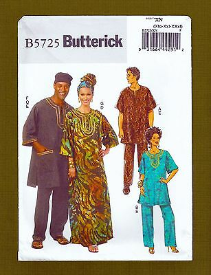 Caftan, Tunic, Pants, Hat, Headwrap Sewing Pattern (Size XL-XXXL) Butterick 5725