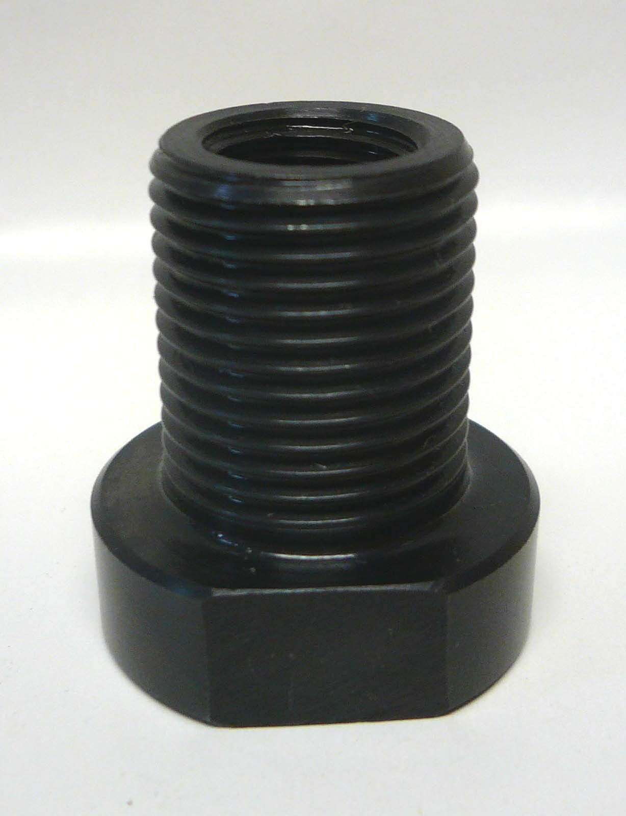 Lathe threaded spindle adapter bushing to