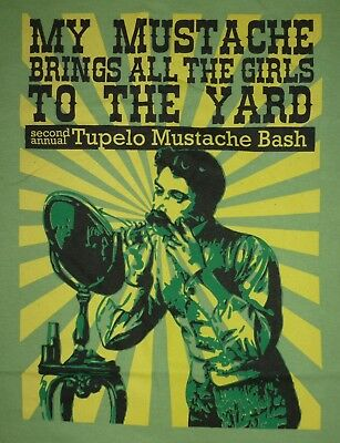Tupelo, Mississippi Second Annual Mustache Bash T Shirt - Size L
