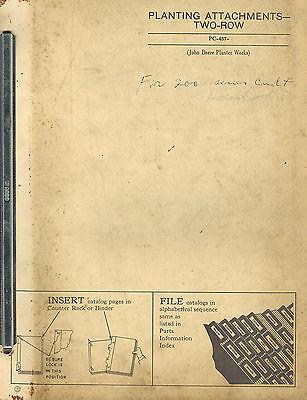 John Deere Vintage 2-row Planters Attachment Parts Manual  Jd
