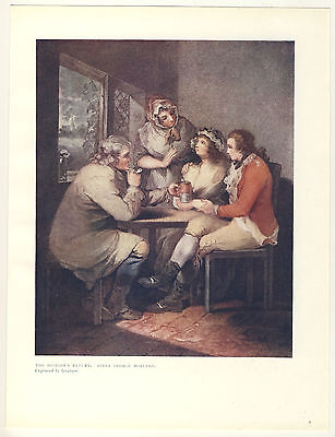The Soldiers Return After George Morland 1906 Colour Print