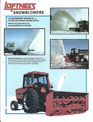 Equipment Brochure - Loftness - Snowblowers - Case John Deere 4540 E3524