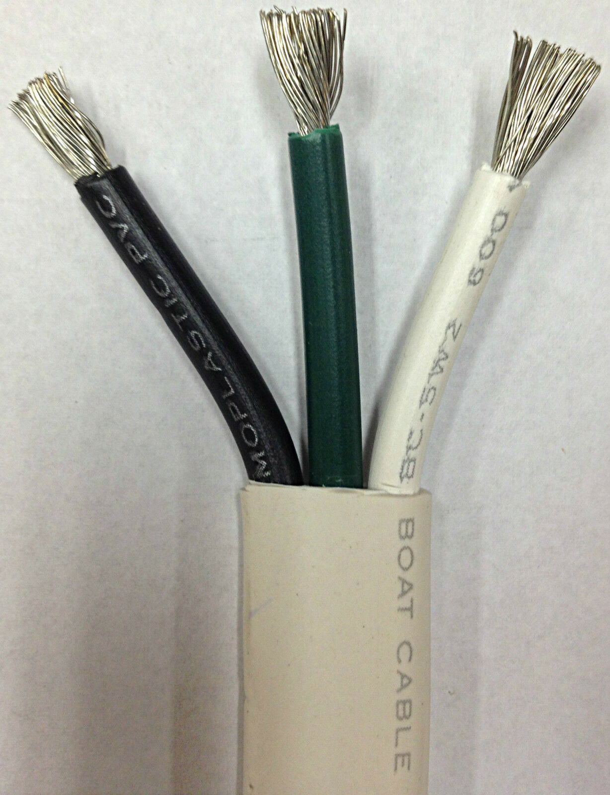 10/3 AWG Gauge Marine Wire Tinned Copper Boat Cable Triplex UL1426 Made in USA Apparel, Protective Gear & Merchandise