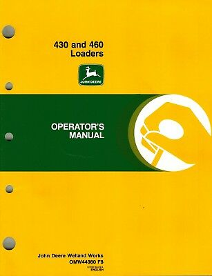 John Deere 430 460 Loader Operators Manual New Jd