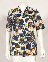 60's French Vintage Print Party Tunic Uk 12/14 - tergal - ebay.co.uk
