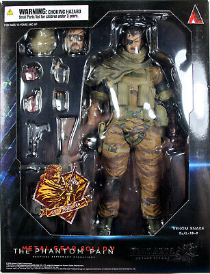 Metal Gear Solid ~ VENOM SNAKE (GOLD TIGER) ~ Play Arts KAI ~ 100% Authentic (Solid Snake Play Arts)