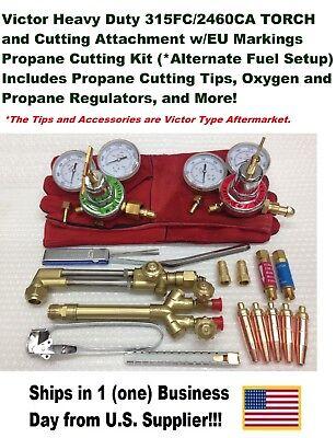 Victor 315fc Torch W2460 Cutting Attachment Regulators Propane Kit Setup