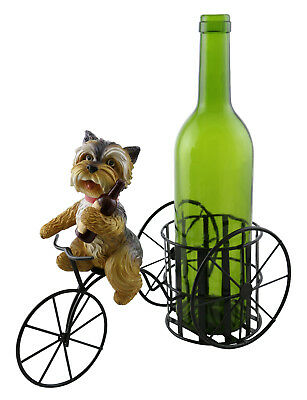 Kitchen Decor Yorkshire Terrier Yorkie Dog On Tricycle Wine Bottle Holder