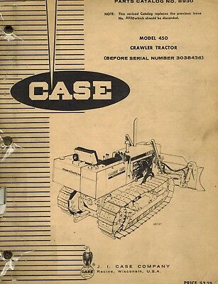 Case Vintage 450 Crawler Parts Manual B930 Before Ser. No. 3038436