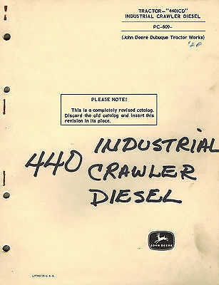 John Deere Vintage 440icd Industrial Crawler Diesel Parts Manual