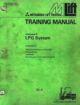 Mitsubishi Forklifts Lpg System Training Manual Volume 6