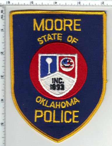 Moore Police (Oklahoma) 4th Issue Shoulder Patch from the 1980