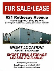 Warehouse for rent. Approximately 14,000 square feet.