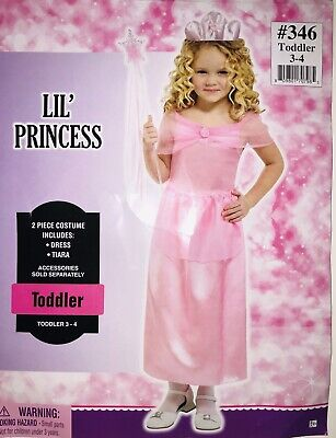 Toddler Girls Lil Princess Halloween Costume Party Set 3-4
