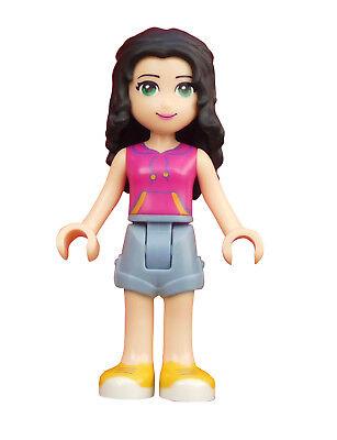 Lego Friends Emma sand blaue Shorts magenta Top Minifigur Figur (frnd149) 41122 ()