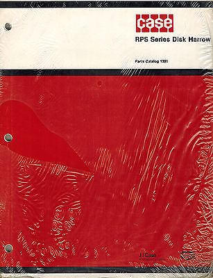 Case Rps Series Disc Harrow Parts Manual New