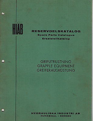 Hiab Grapple Equipment Parts Manual