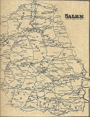 Loyalhanna Salem Delmont Mannitto Slickville PA 1867 Maps Landowners Names Shown