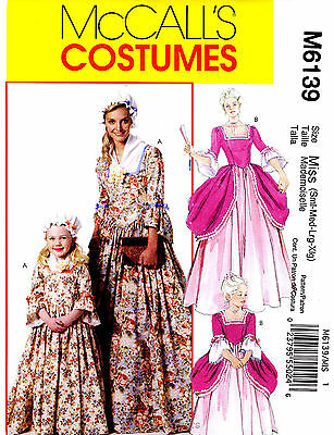 McCall's 6139 Miss' & Girls' Colonial Costumes Pattern](Girls Colonial Costumes)