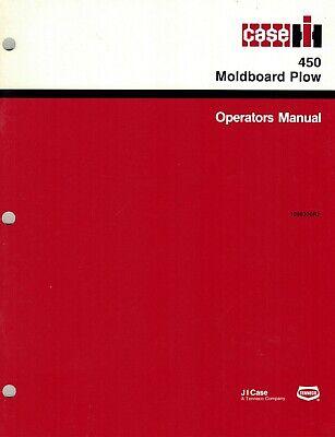 International 450 3-point Hitch Moldboard Plow Operators  Manual New