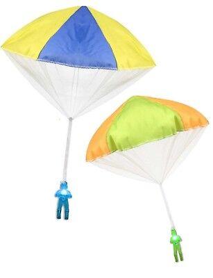 """2Pack Tangle Free Light Up Toy Parachute Man with Large 20"""" Parachutes!"""