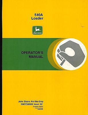 John Deere 540a Front Loader Operators Manual New Jd