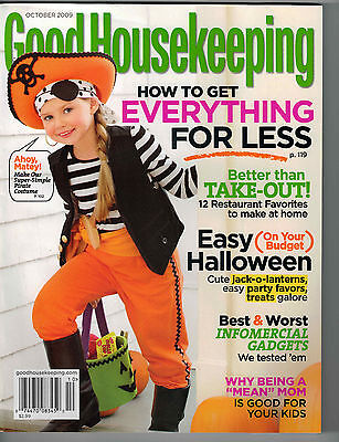 Good Housekeeping 2009 Halloween Decorating Pumpkins Kevin McKidd Recipes  - Halloween Pumpkin Recipes