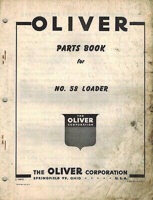 Oliver Vintage 58 Loader Parts Manual