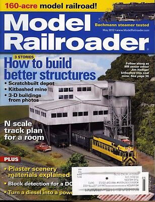 Model Railroader May 2012 How to build better (Best Models To Build)