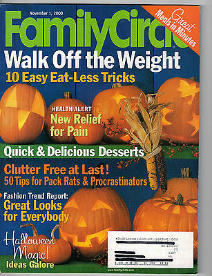 Family Circle 2000 Halloween Decorations Costumes Pumpkins Recipes Desserts](Family Circle Magazine Halloween Recipes)