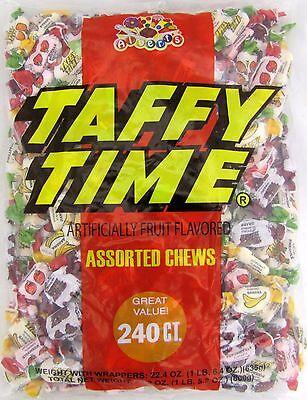 Albert's Taffy Time Chews 240 Count Classic Candy Chew Bulk Chewy Candies Albert