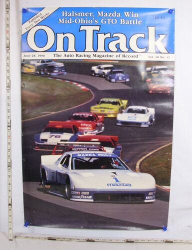 MAZADA RX 7 RACING SPORTS CAR ON TRACK MAGAZINE COVER CAR DEALER POSTER