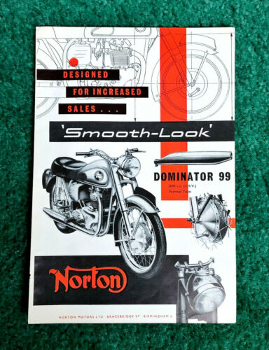 RARE ORIG 1957 NORTON MOTORCYCLE MAGAZINE AD 600 DOMINATOR 99 POSTER? SHIRT?