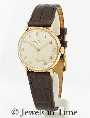 Ulysse Nardin Vintage 18k Yellow Gold Midsize Watch