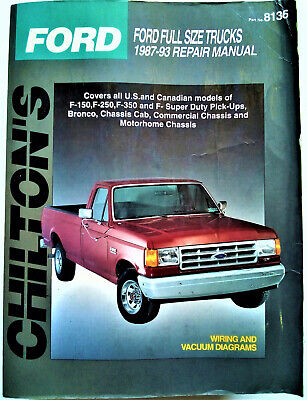 CHILTON'S 1987-1993 Ford Full Size Trucks Repair Manual F-150, F-250, F-350