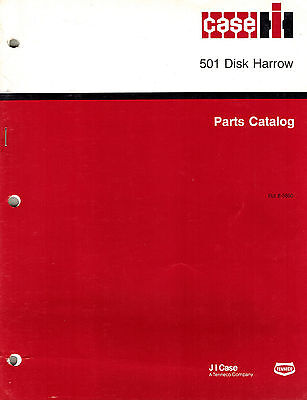 Caseih 501 Disk Harrow Parts Manual New