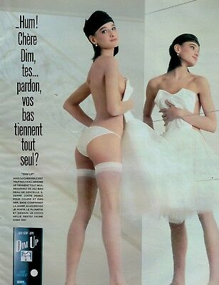 1986 , DIM UP   PANTYHOSE & SHEER  : French Magazine  Print Ad