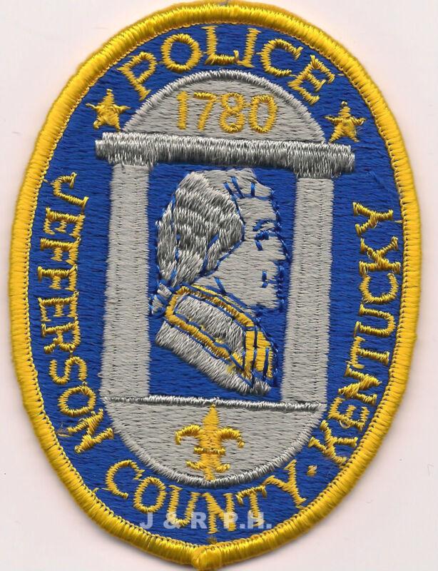 "Jefferson County - 1780, Kentucky (3"" x 4"" size)   shoulder police patch (fire)"