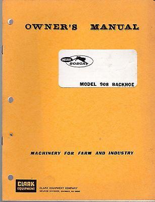 Bobcat 908 Backhoe For Skid Steer Owners Manual