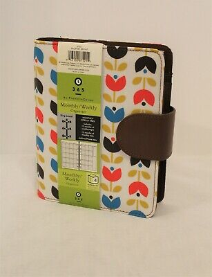 Compact Franklin Covey 365 Planner Binder Organizer New Tulips Month Weekly