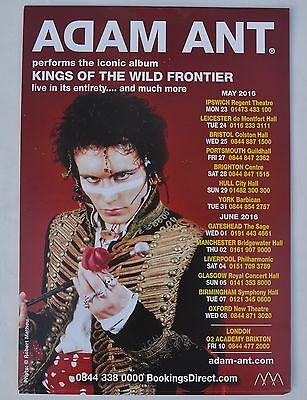 Adam Ant/ the Ants  Kings of the Wild Frontier Tour A5 (Adam Ant Kings Of The Wild Frontier Tour)