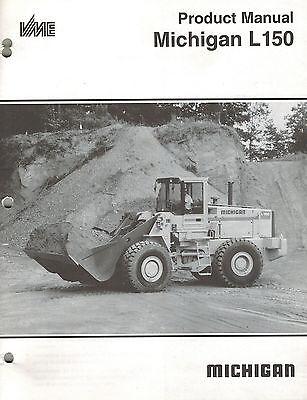 Michigan L150 Wheel Loader Product Manual 1991 New