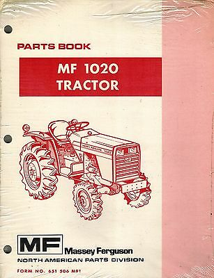 Massey Ferguson Mf 1020 Compact Tractor Parts Manual 651 506 M91